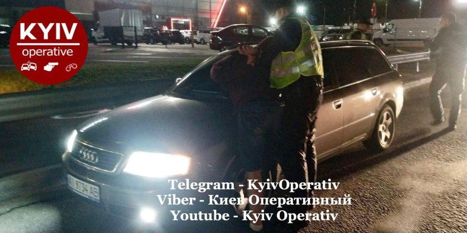 Мужчина пытался скрыться от полиции / фото Киев Оперативный Facebook