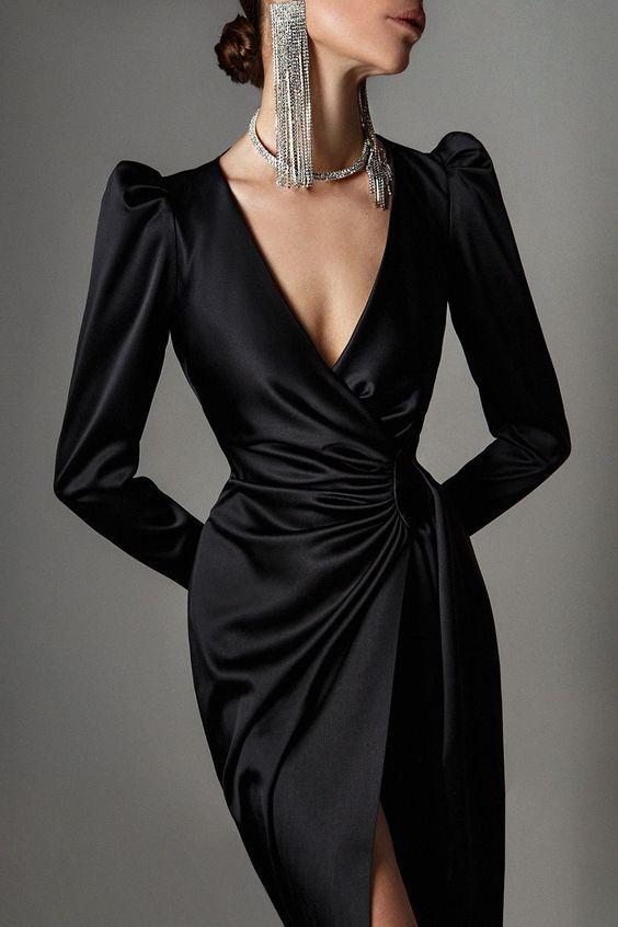 Черное платье / фото pinterest.com
