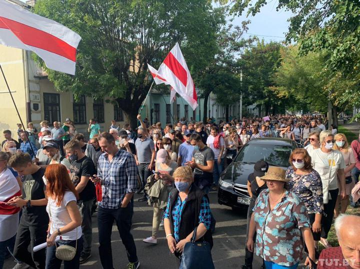 У Білорусі розганяють протестувальників / Фото tut.by