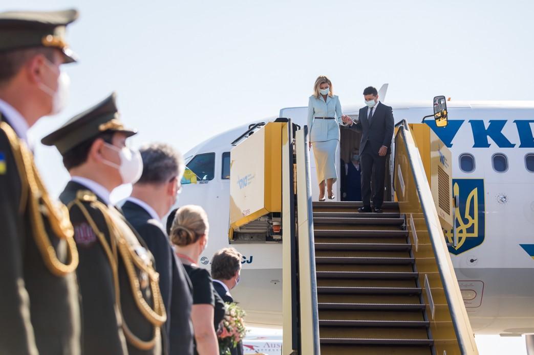 Владимир Зеленский вместе с женой Еленой начали официальный визит в Австрию / фото president.gov.ua