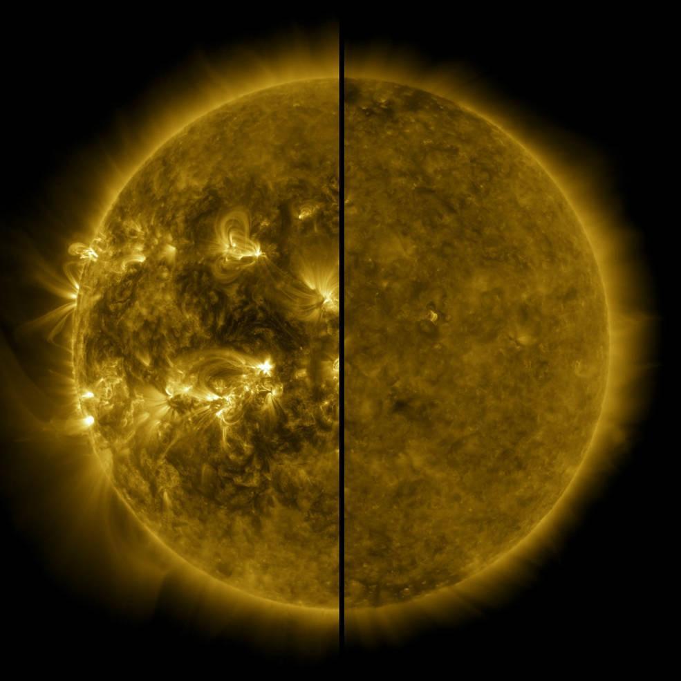 Коливання кількостіплям на диску Сонця – найпомітніший прояв циклу активності світила / фото NASA