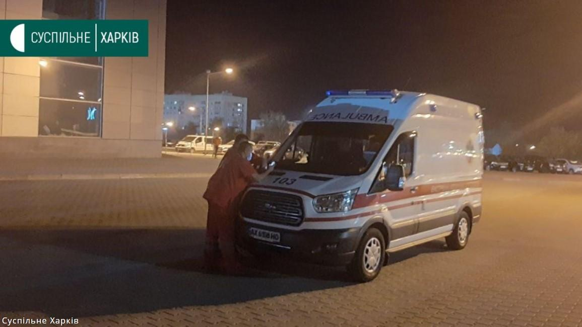 Ambulances were spotted at the airport / Photo by Suspilne.Media Kharkiv