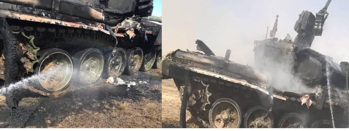 Россияне взорвали свой же танк / topwar.ru