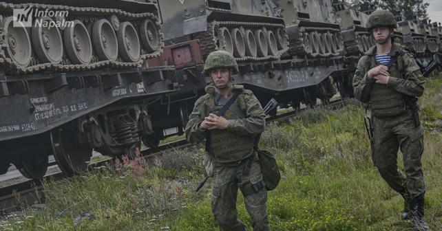 Ранее Россия перебросила на учения около 300 военнослужащих и 70 единиц боевой техники / фото InformNapalm