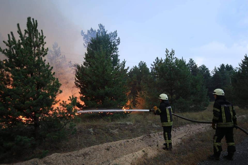 На полігоні локалізували пожежу / Фото UkrainianLandForces