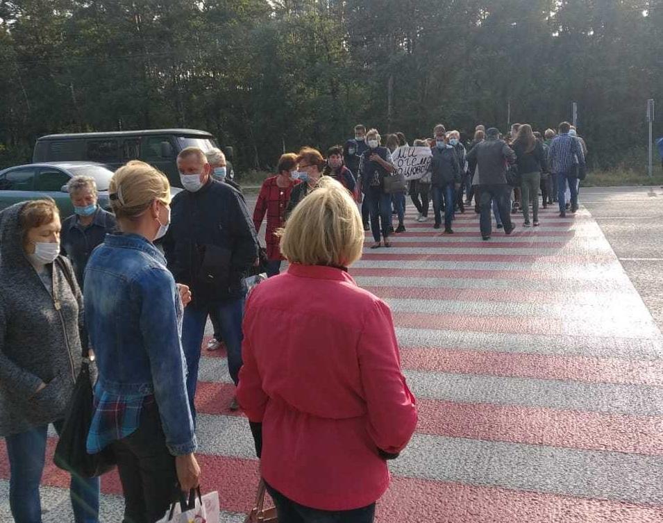 Медпрацівники вимагали погасити заборгованість із зарплати / фото Вікторії Коритко