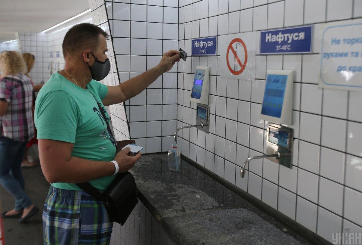 Новая система выдачи минеральных вод в Трускавце / фото УНИАН (Александр Синица)