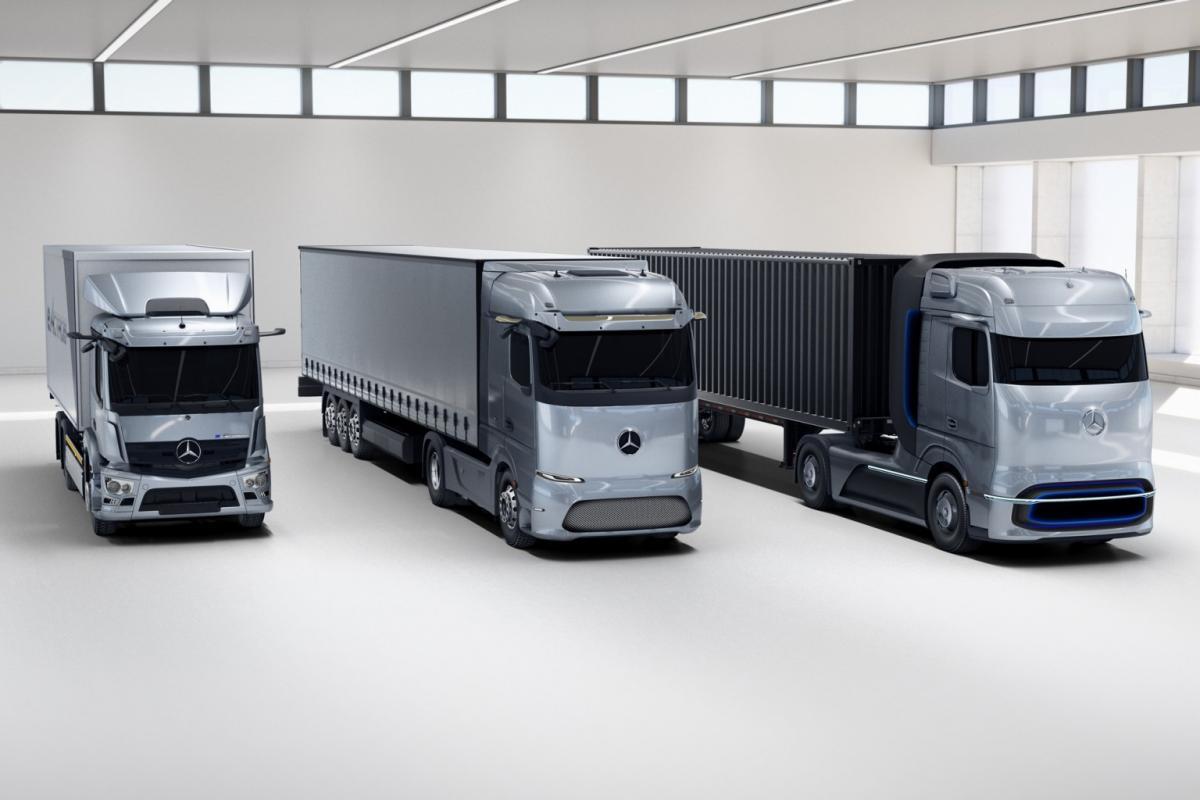 Електровантажівки орієнтуються на різні сегменти ринку / фото Daimler Trucks