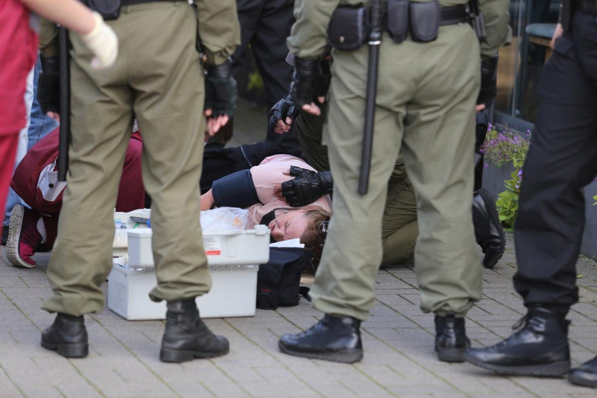 В Беларуси жестоко разогнали протестующих / REUTERS