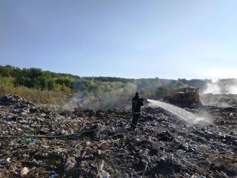 Пожар на свалке на Житомирщине / фото dsns.gov.ua