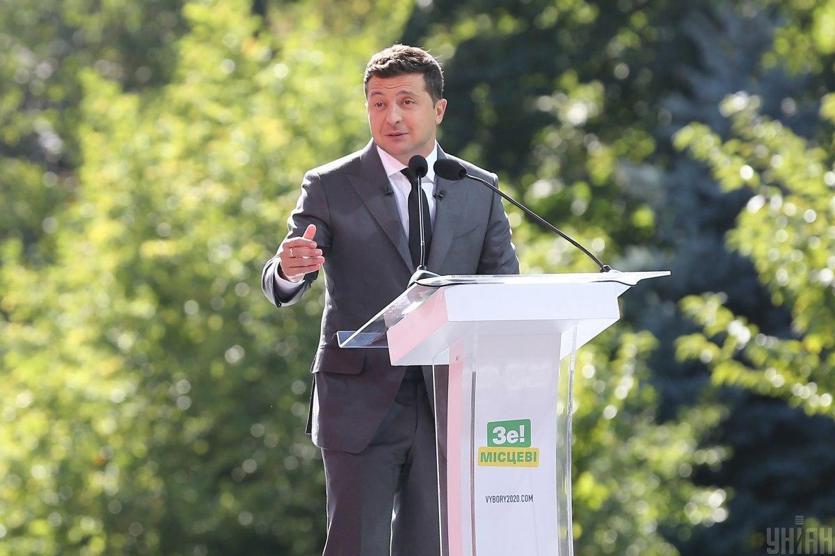 Зеленский и его партия возглавляют политические рейтинги в Украине/ фото УНИАН, Виктор Ковальчук
