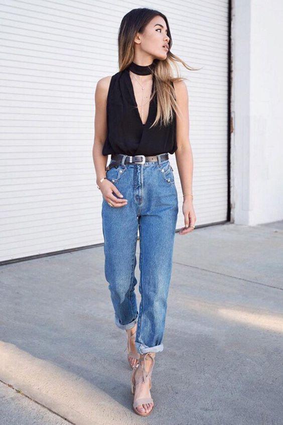 Прямые джинсы / фото pinterest.com