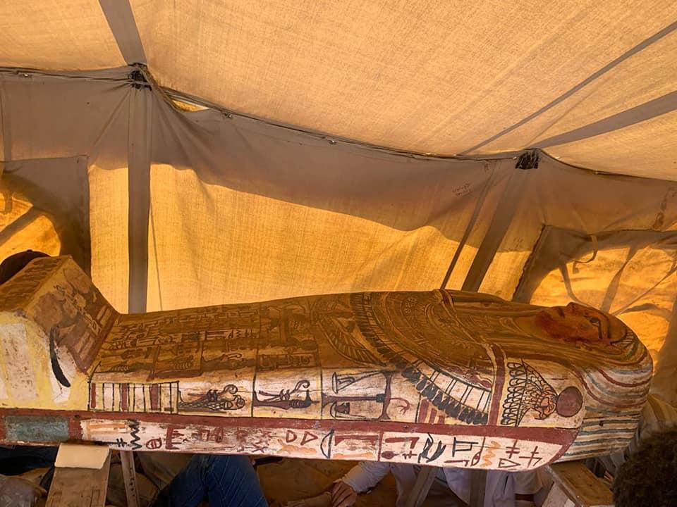 У Єгипті знайшли схованку зі стародавніми саркофагами / фото Міністерство туризму і пам'яток Єгипту