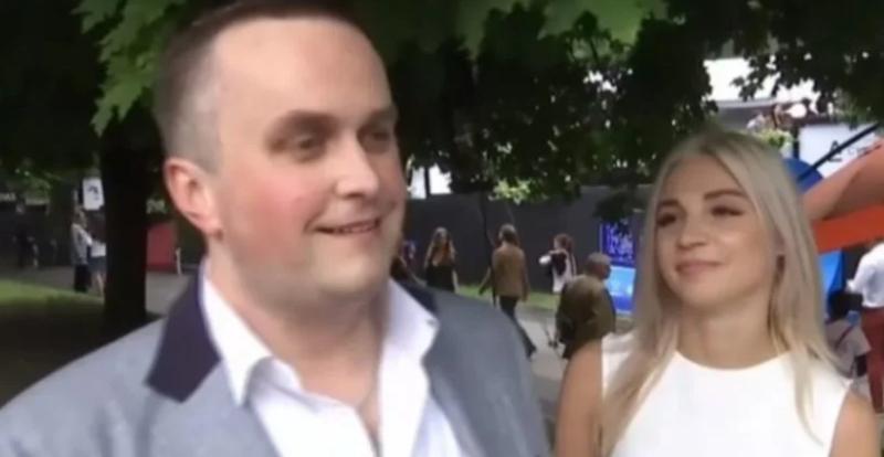 Назар Холодницкий с невестой Юлией Бойко / скриншот с видео