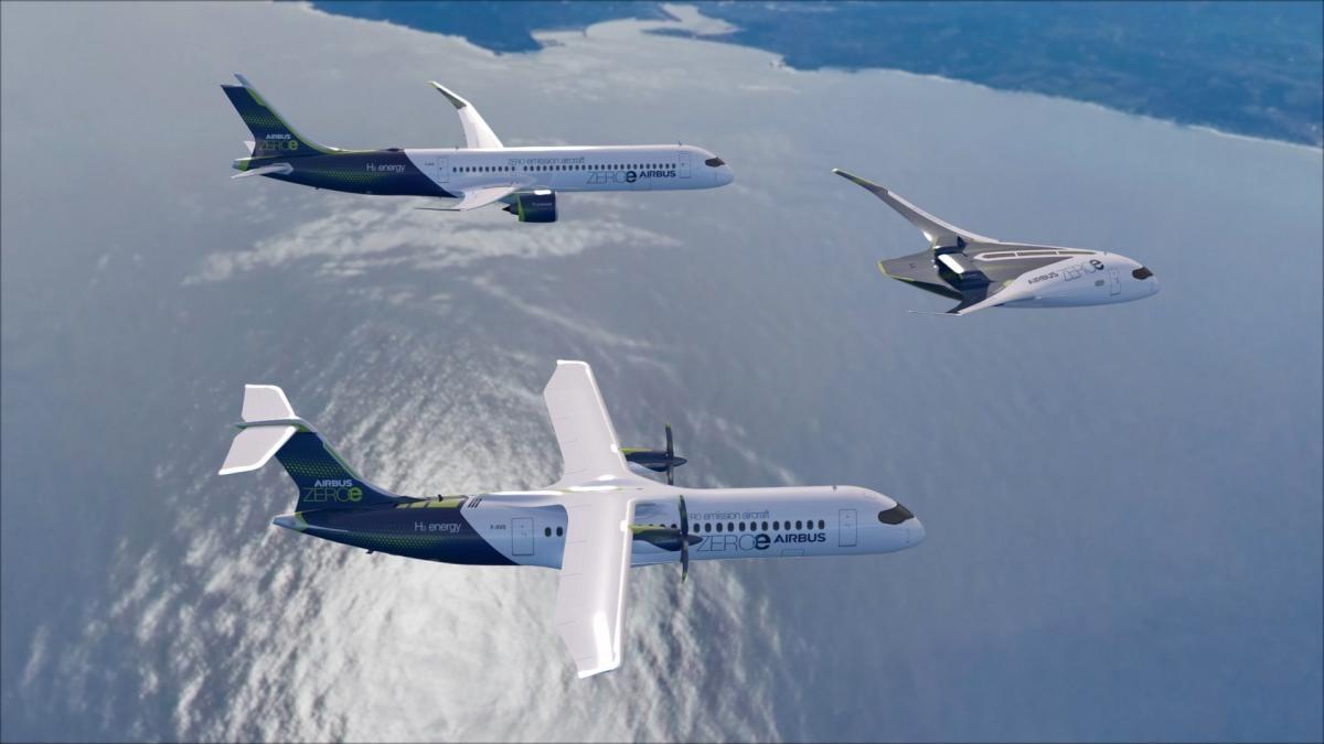 Airbus представил концепции трех самолетов будущего / фото airbus.com