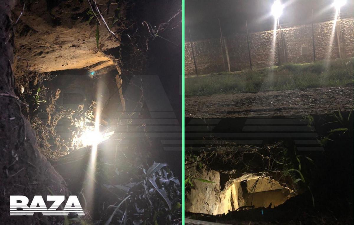 Заключенные сделали гигантский подкоп/ фото Baza