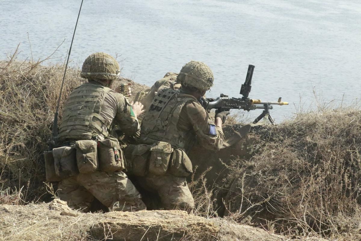 Британские военные во время учений / фото Генштаб ВСУ