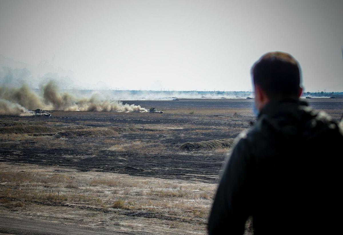 Владимир Зеленский наблюдал за ходом учений «Объединенные усилия – 2020» / фото ОП