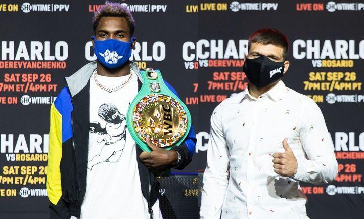Джермалл Чарло и Сергей Деревянченко / фото BoxingScene