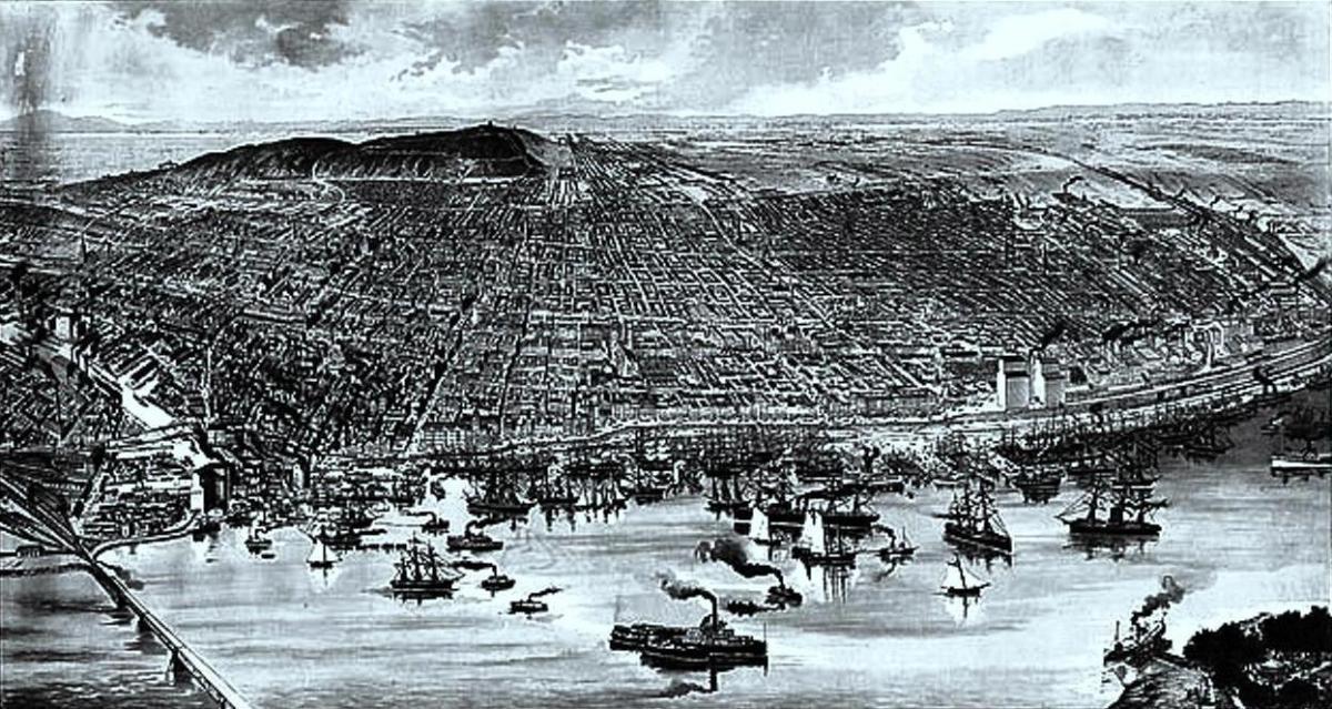 Монреальская гавань в 1889 году / фото Википедия