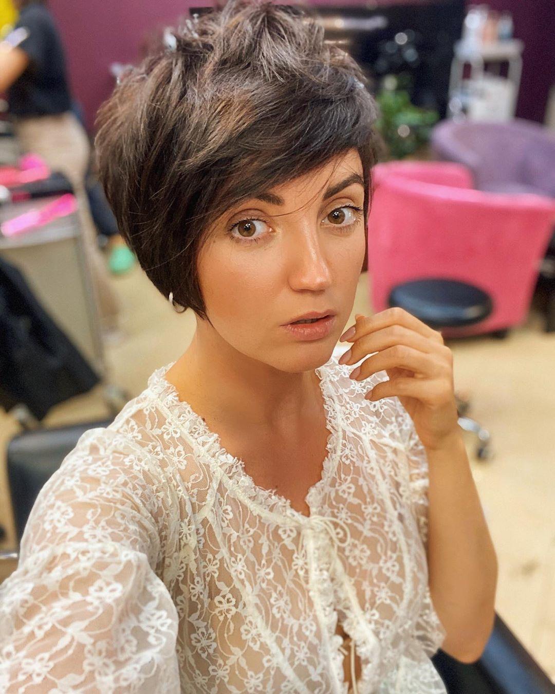 Цибульська з новою зачіскою / фото instagram.com/cybulskaya