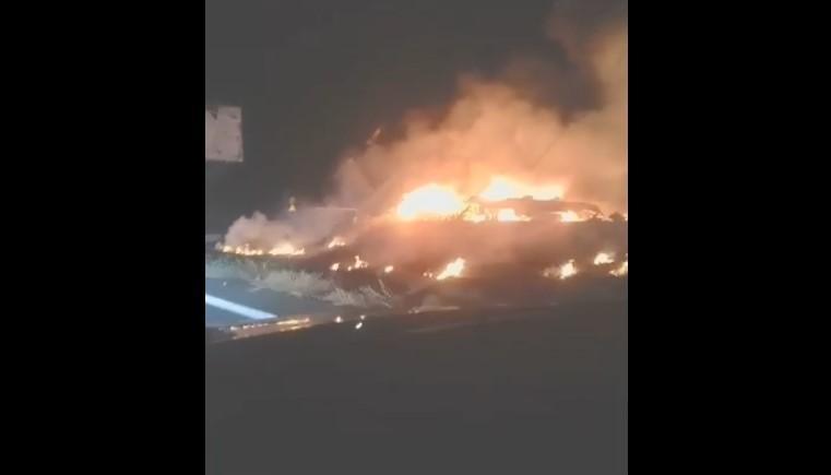 Біля Чугуєва розбився літак / Скріншот