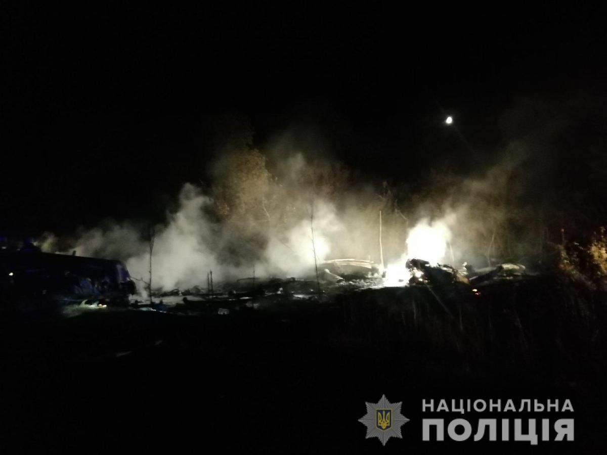 Самолет разбился в Чугуеве / фото Нацполиции