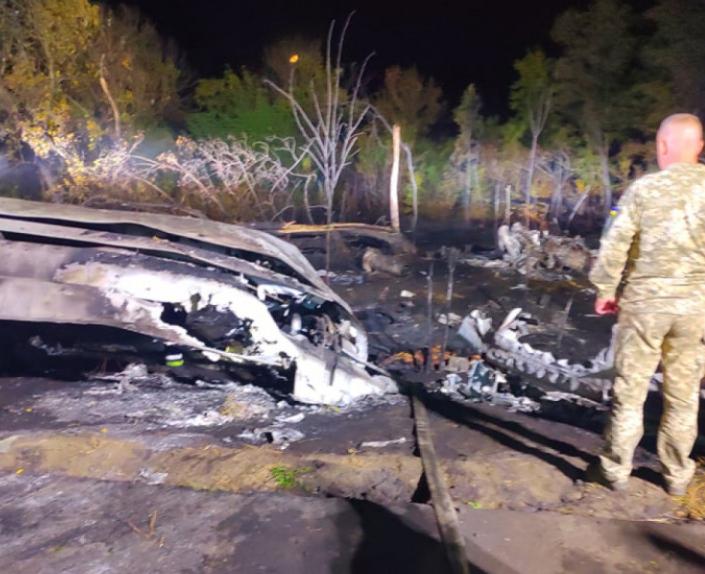 Самолет разбился в Чугуеве / Фото Depo.Харьков