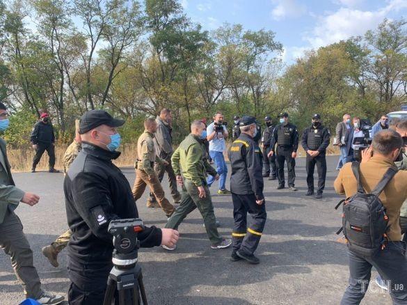 Зеленський прибув на місце катастрофи Ан-26 / фото ТСН.ua