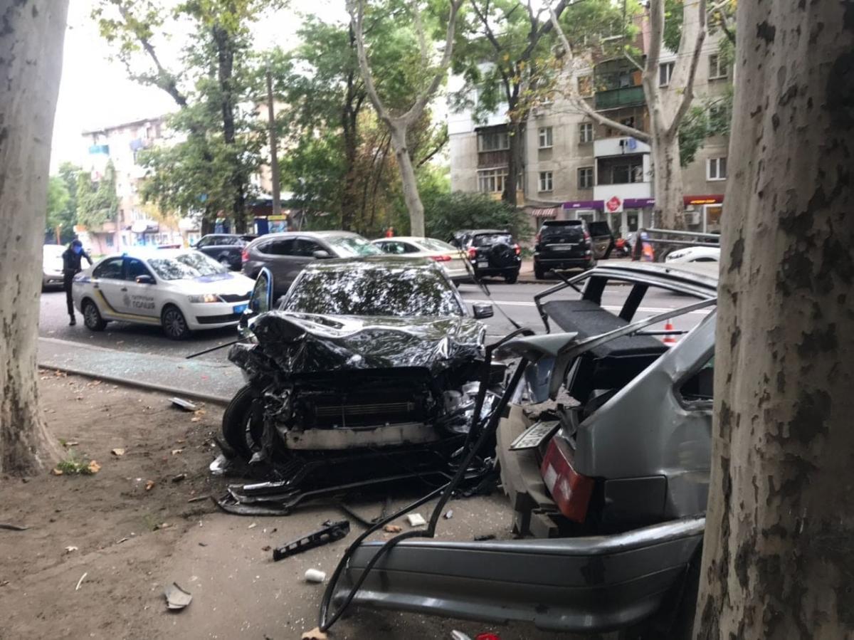 Аварія в Одесі / фото управління патрульної поліції в Одеській області