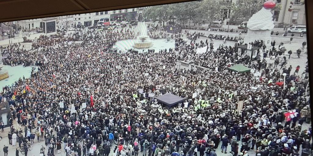Акция протеста в Лондоне / фото twitter.com/MetPoliceEvents