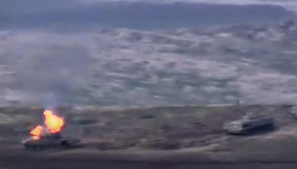 Армения уничтожила танк Азербайджана / скриншот