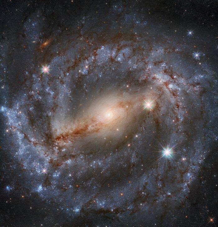 Галактика NGC 5643 / фото ESA/Hubble & NASA, A. Riess et al.