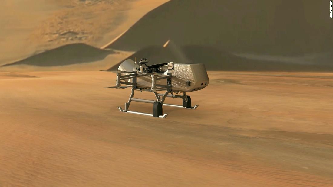 NASA готовится отправить аппарат Dragonfly на Титан / фото cnn.com