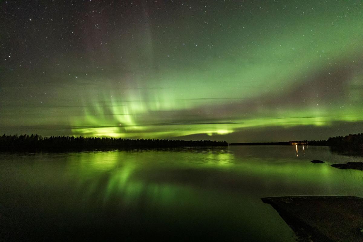 Полярное сияние над Финляндией в сентябре 2020 года / фото REUTERS