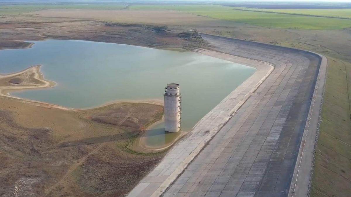 У Сімферопольському водосховищі залишилося лише чотири мільйони кубометрів води, а місто витрачає понад сто тисяч кубів на день