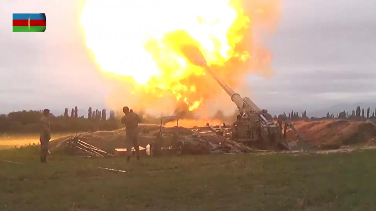 По данным минобороны Армении, наступление Азербайджана начатов долине Аракс и Матагис-Талыш / Фото REUTERS