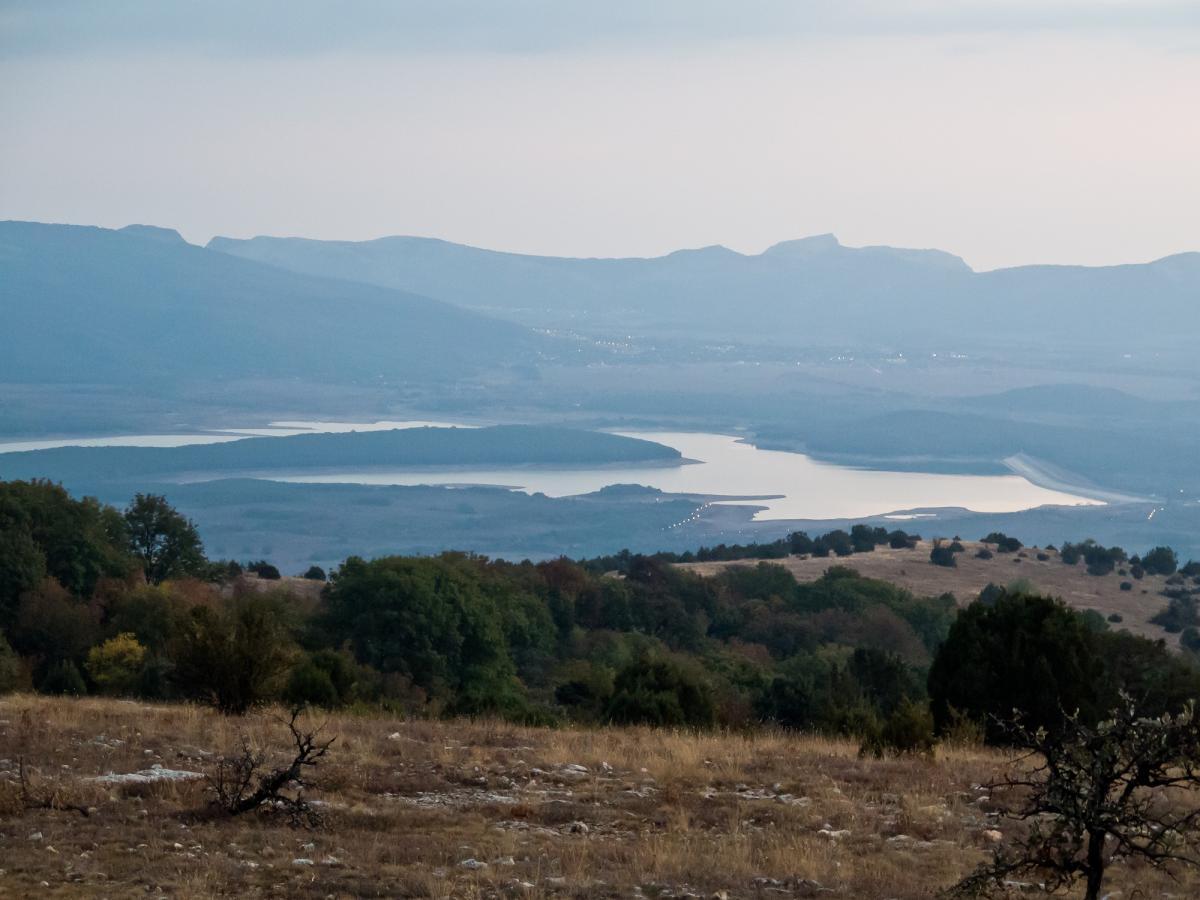 Чорноріченське водосховище висохло / Twitter, Wasily Crimea