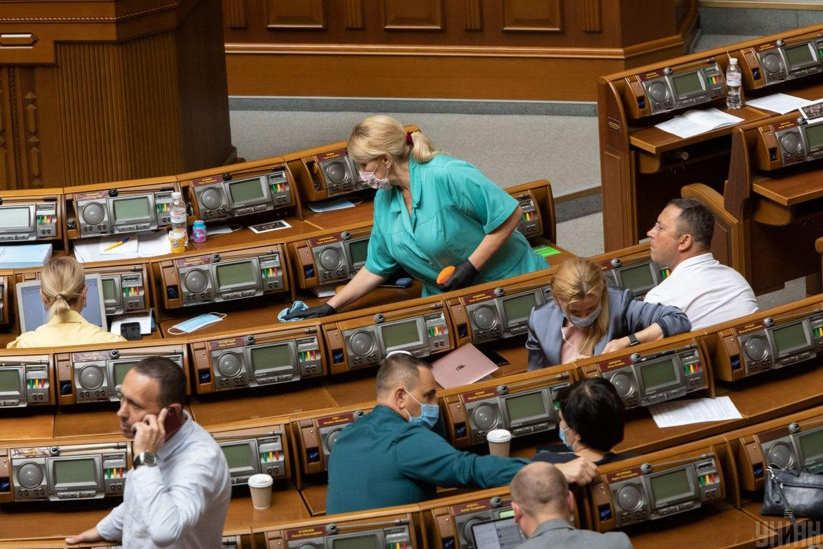 Не все депутаты носят маски в Раде / фото Кузьмин Александр / УНИАН