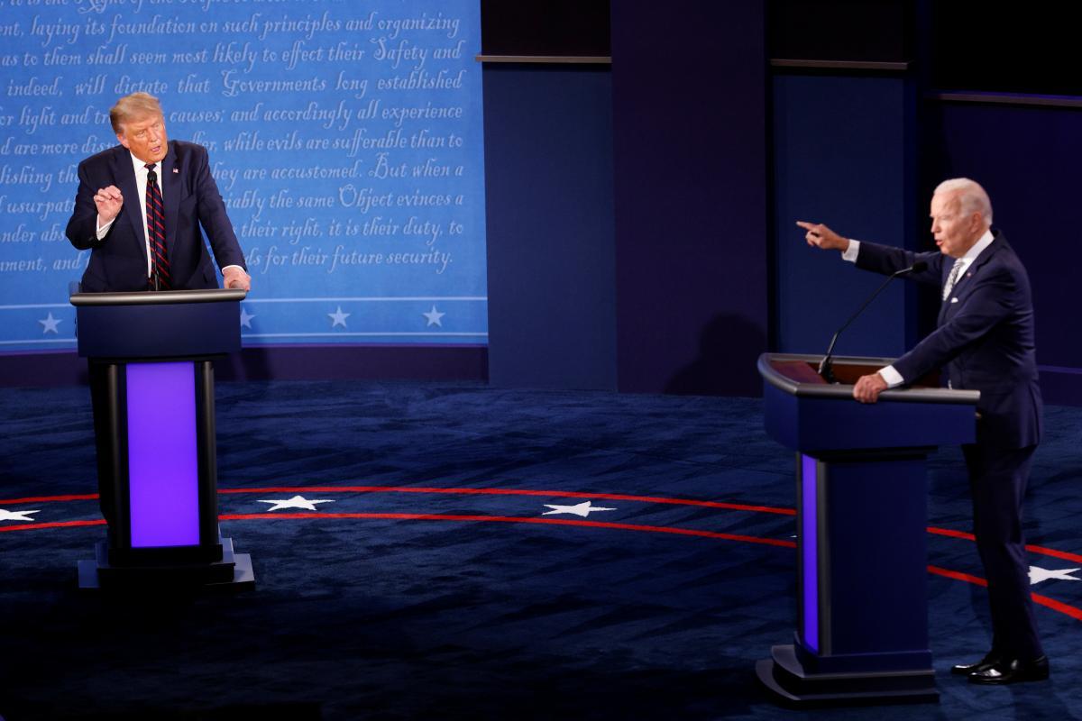 Трамп и Байден поспорили во время первых теледебатов / фото REUTERS