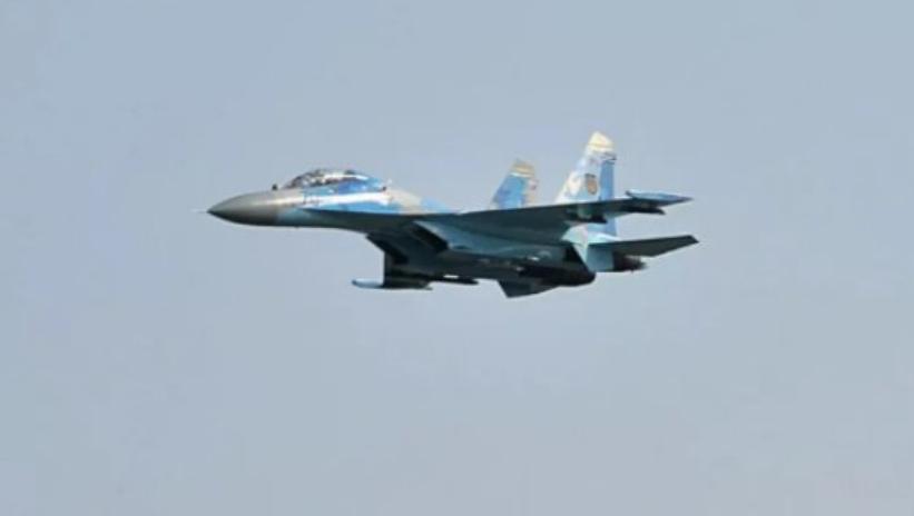 Украинский истребитель выдали за российский / скриншот