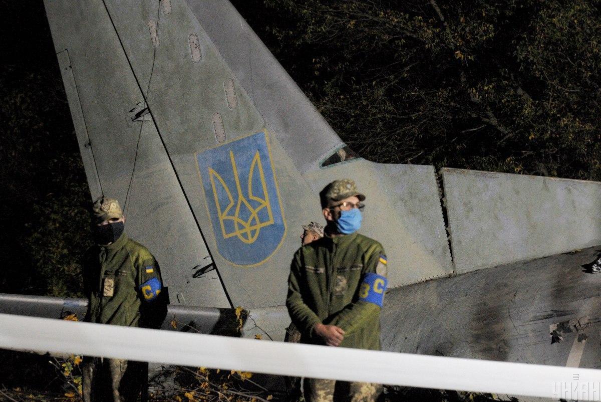 25 сентября в Харьковской области упал военный самолетАн-26/ фото УНИАН