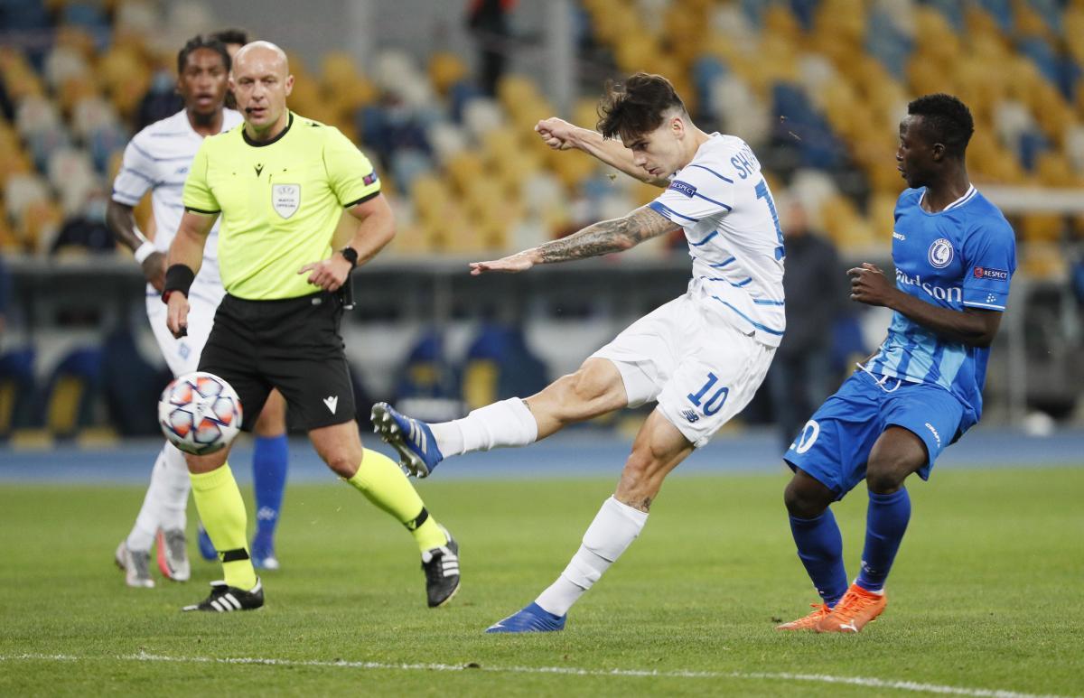 Николай Шапаренко в матче против Гента / фото REUTERS