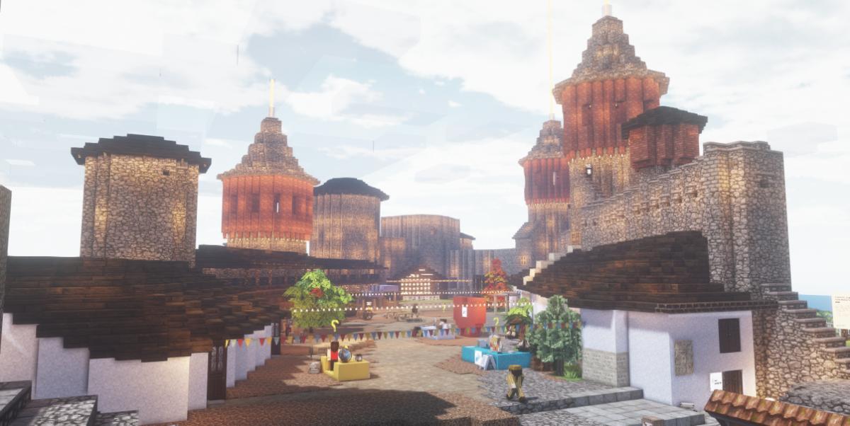 Каменец-Подольская крепость в Minecraft / скриншот