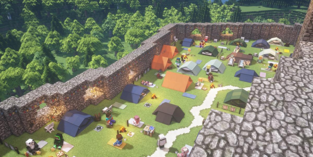 Палаточный городок онлайн-фестиваля / скриншот