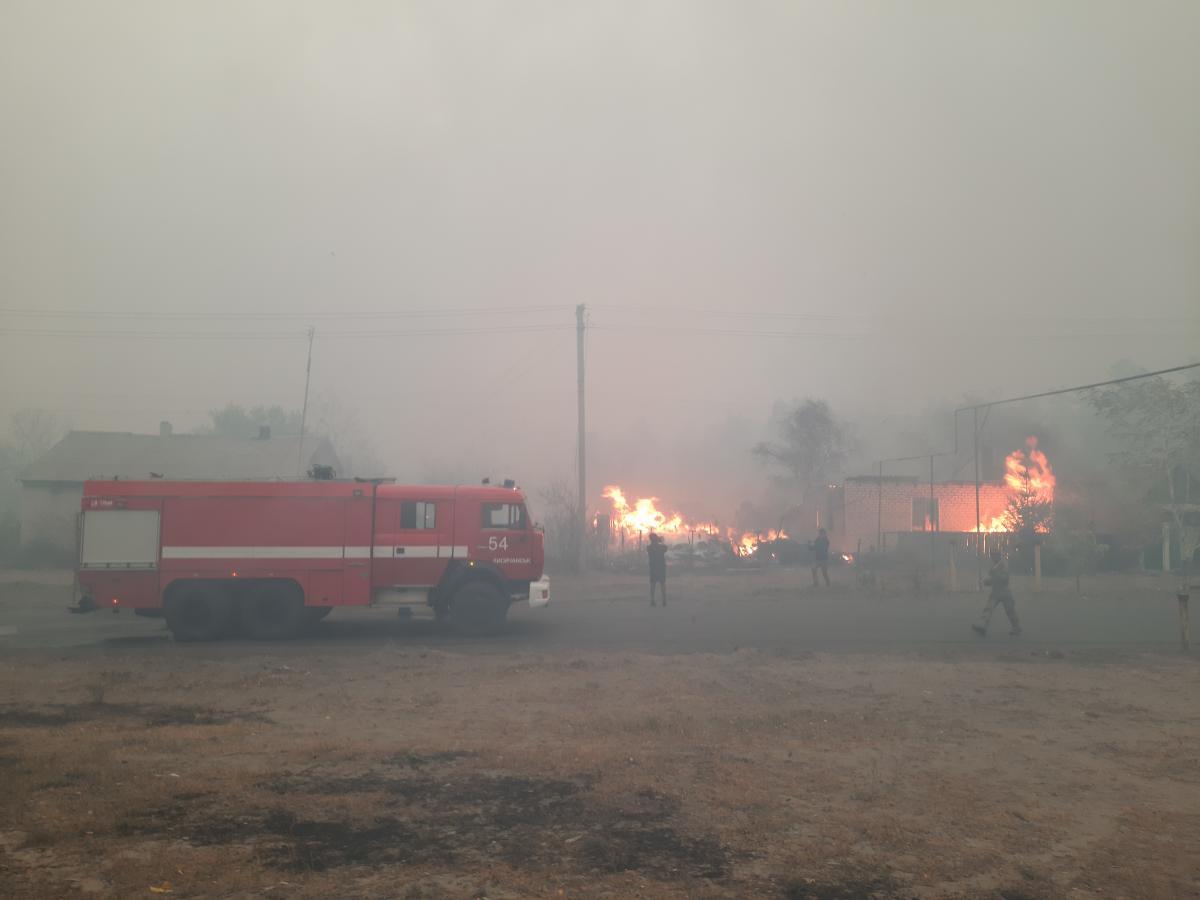 На Луганщине бушуют лесные пожары / фото dsns.gov.ua