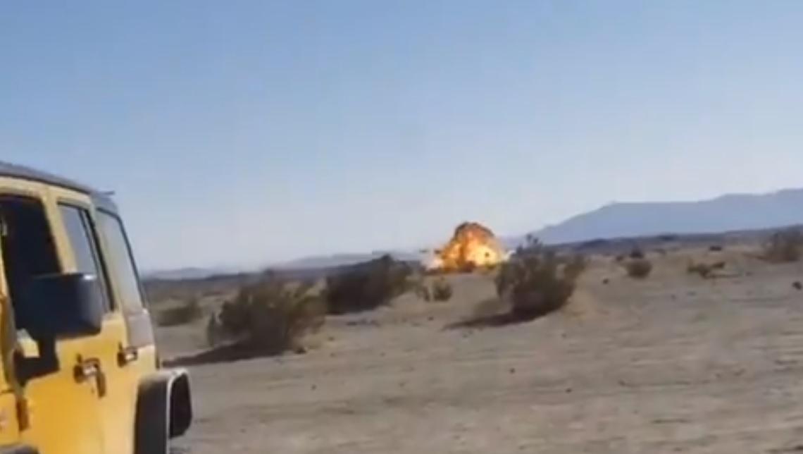 Как в США разбился истребитель / скриншот с видео