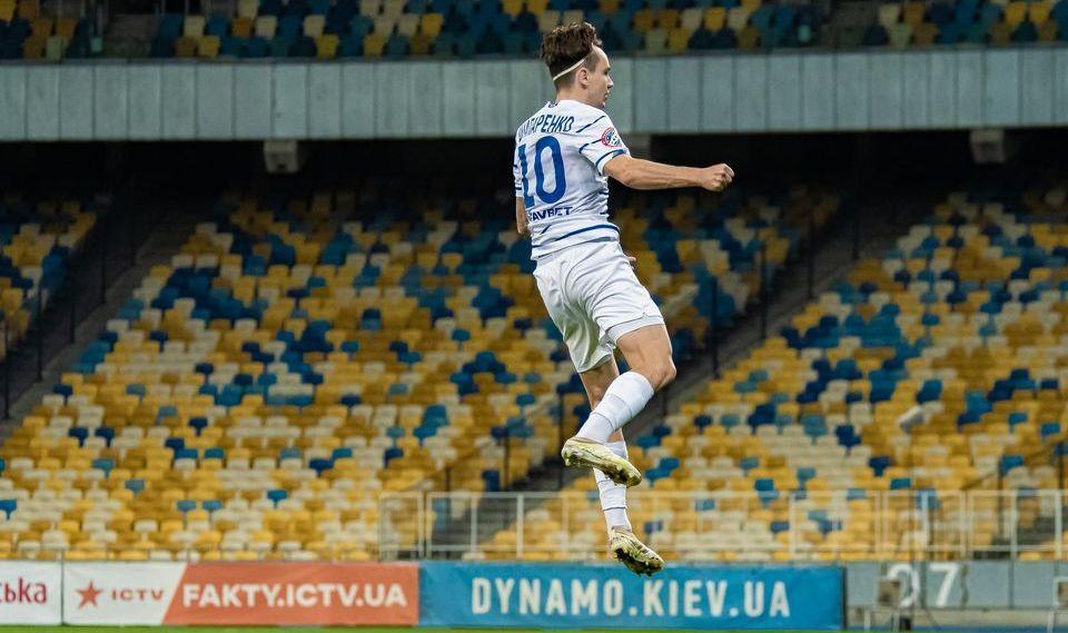 Микола Шапаренко забив 2 голи і зробив 2 асисти в 8 матчах сезону / фото Динамо Київ