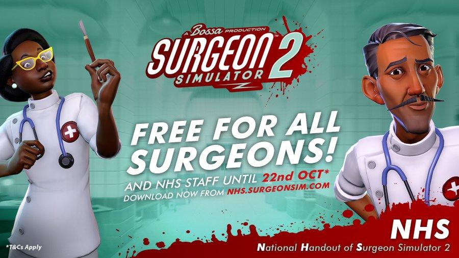 Раздача Surgeon Simulator 2 продлится до 22 октября /фото twitter.com/bossastudios