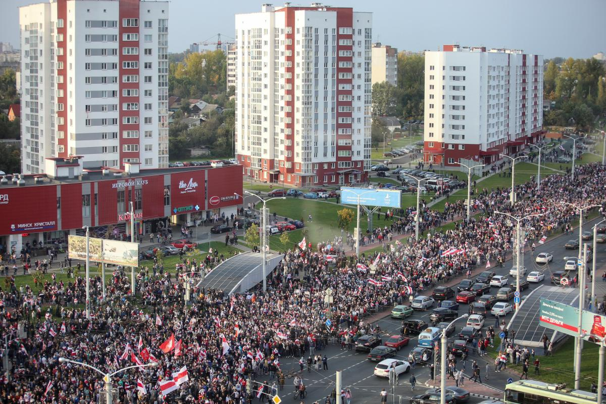 Rallies in Minsk on Oct 4 / REUTERS
